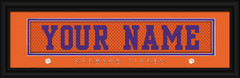 Clemson Tigers Personalized Jersey Nameplate Framed Print