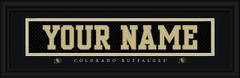 Colorado Buffaloes Personalized Jersey Nameplate