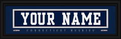 Connecticut Huskies Personalized Jersey Nameplate Framed Print