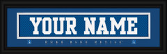 Duke Blue Devils Personalized Jersey Nameplate Framed Print