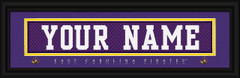 East Carolina Pirates Personalized Jersey Nameplate Framed Print