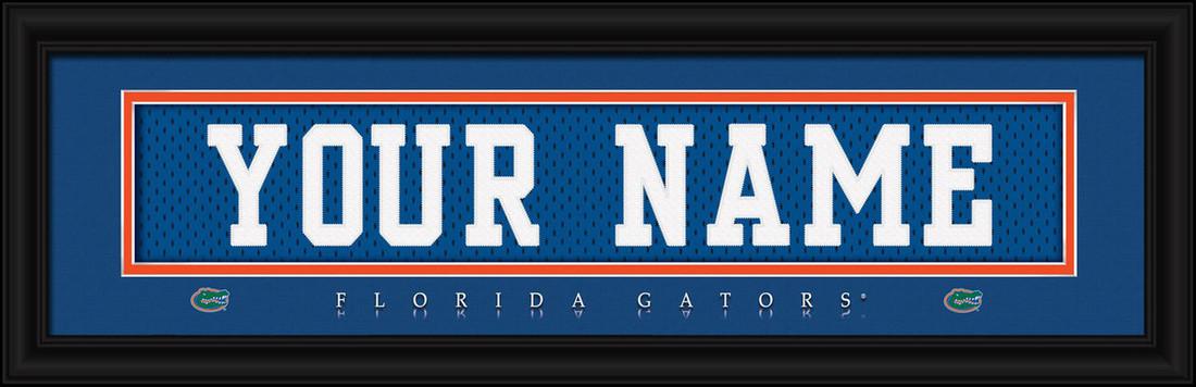 Florida Gators Personalized Jersey Nameplate Framed Print