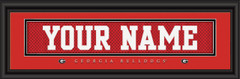Georgia Bulldogs Personalized Jersey Nameplate Framed Print
