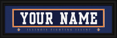 Illinois Fighting Illini Personalized Jersey Nameplate Framed Print