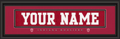 Indiana Hoosiers Personalized Jersey Nameplate Framed Print