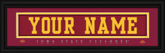 Iowa State Cyclones Personalized Jersey Nameplate Framed Print