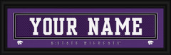 K-State Wildcats Personalized Jersey Nameplate Framed Print
