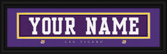 LSU Tigers Personalized Jersey Nameplate Framed Print