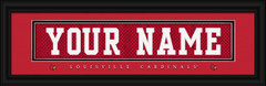 Louisville Cardinals Personalized Jersey Nameplate Framed Print