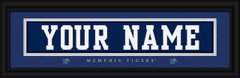 Memphis Tigers Personalized Jersey Nameplate Framed Print
