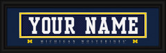 Michigan Wolverines Personalized Jersey Nameplate Framed Print