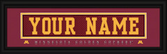 Minnesota Golden Gophers Personalized Jersey Nameplate Framed Print