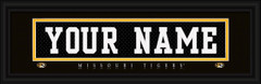 Missouri Tigers Personalized Jersey Nameplate Framed Print