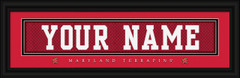 Maryland Terrapins Personalized Jersey Nameplate Framed Print