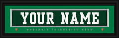 Marshall Thundering Herd Personalized Jersey Nameplate Framed Print
