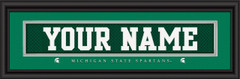 Michigan State Spartans Personalized Jersey Nameplate Framed Print