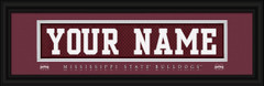 Mississippi State Bulldogs Personalized Jersey Nameplate Framed Print