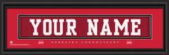 Nebraska Cornhuskers Personalized Jersey Nameplate Framed Print
