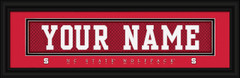 NC State Wolfpack Personalized Jersey Nameplate Framed Print