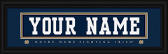 Notre Dame Fighting Irish Personalized Jersey Nameplate Framed Print