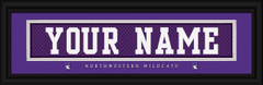 Northwestern Wildcats Personalized Jersey Nameplate Framed Print