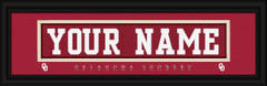 Oklahoma Sooners Personalized Jersey Nameplate Framed Print