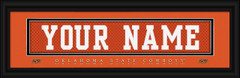 Oklahoma State Cowboys Personalized Jersey Nameplate Framed Print
