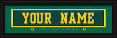 Oregon Ducks Personalized Jersey Nameplate Framed Print
