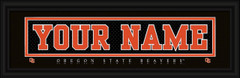 Oregon State Beavers Personalized Jersey Nameplate Framed Print