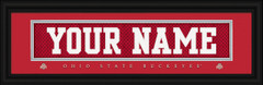 Ohio State Buckeyes Personalized Jersey Nameplate Framed Print