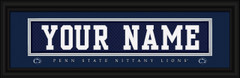 Penn State Nittany Lions Personalized Jersey Nameplate Framed Print