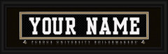 Purdue University Boilermakers Personalized Jersey Nameplate Framed Print