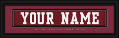South Carolina Gamecocks Personalized Jersey Nameplate Framed Print