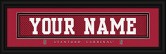 Stanford Cardinal Personalized Jersey Nameplate Framed Print