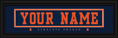 Syracuse Orange Personalized Jersey Nameplate Framed Print