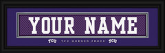 TCU Horned Frogs Personalized Jersey Nameplate Framed Print