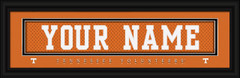Tennessee Volunteers Personalized Jersey Nameplate Framed Print