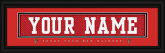 Texas Tech Red Raiders Personalized Jersey Nameplate Framed Print
