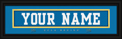 UCLA Bruins Personalized Jersey Nameplate Framed Print