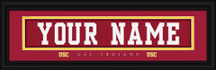 USC Trojans Personalized Jersey Nameplate Framed Print
