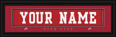 Utah Utes Personalized Jersey Nameplate Framed Print