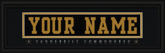 Vanderbilt Commodores Personalized Jersey Nameplate Framed Print