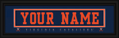 Virginia Cavaliers Personalized Jersey Nameplate Framed Print
