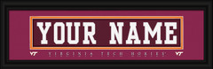 Virginia Tech Hokies Personalized Jersey Nameplate Framed Print