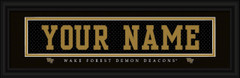 Wake Forest Demon Deacons Personalized Jersey Nameplate Framed Print