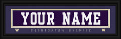 Washington Huskies Personalized Jersey Nameplate Framed Print