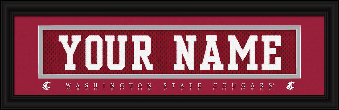 Washington State Cougars Personalized Jersey Nameplate