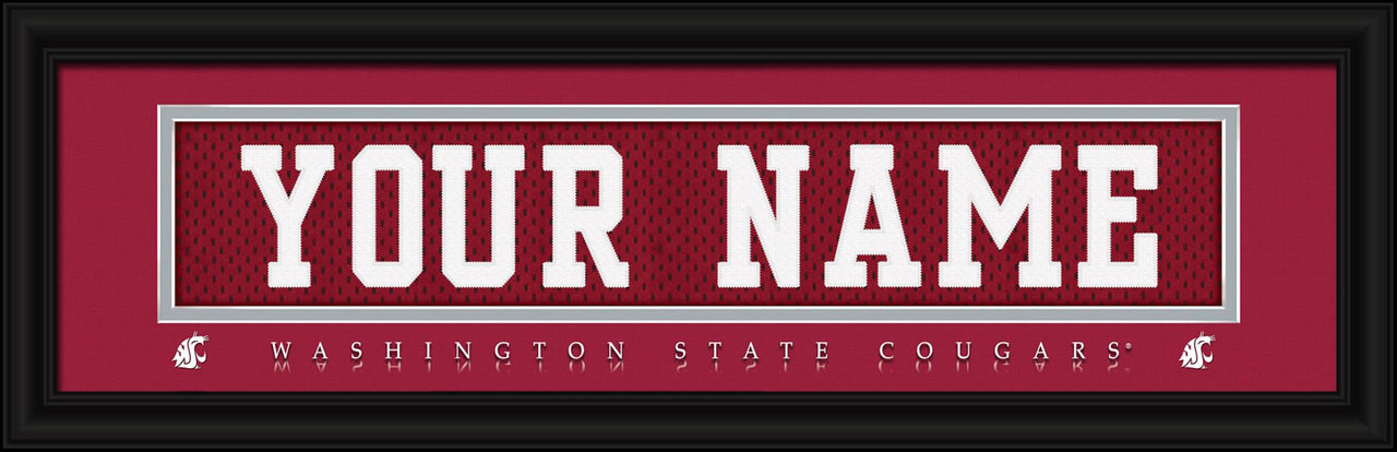 buy online 3c4f7 e84dd Washington State Cougars Personalized Jersey Nameplate