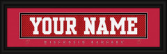 Wisconsin Badgers Personalized Jersey Nameplate Framed Print