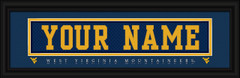 West Virginia Mountaineers Personalized Jersey Nameplate Framed Print